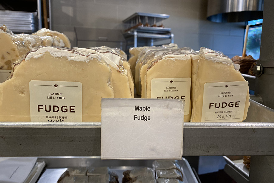 Things to buy in Whistler include Fudge