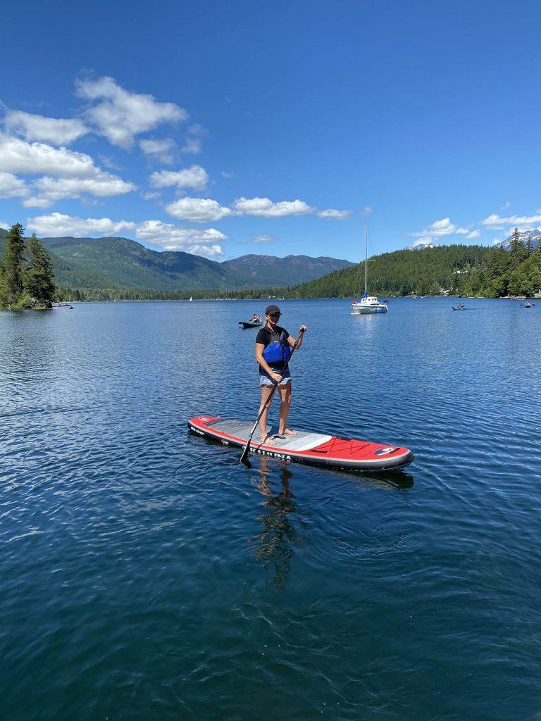 Whistler - Paddleboarding Alta Lake SUP