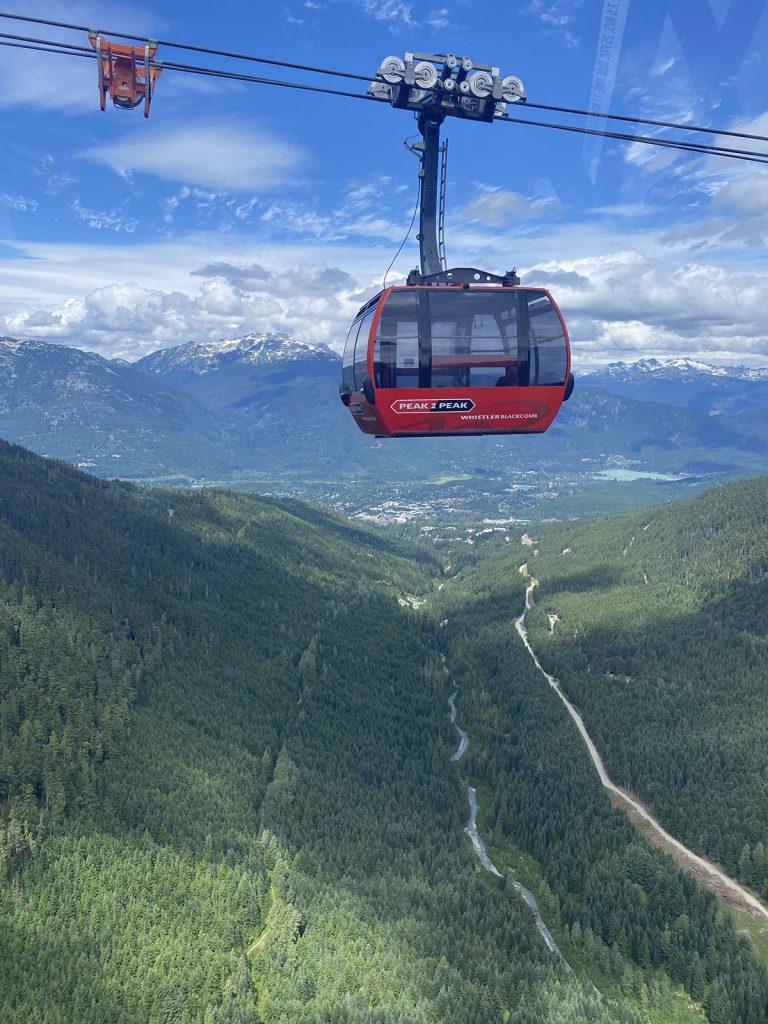 Whistler - Peak to Peak Gondola in Summer.