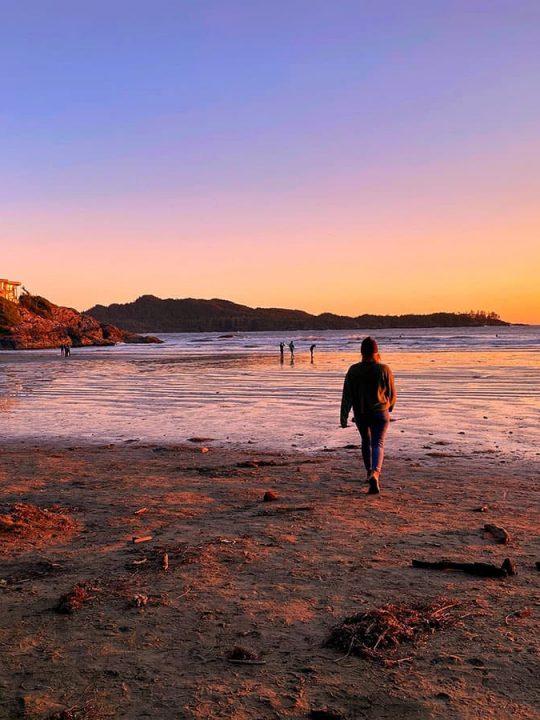Tofino - Sunset at the beach.