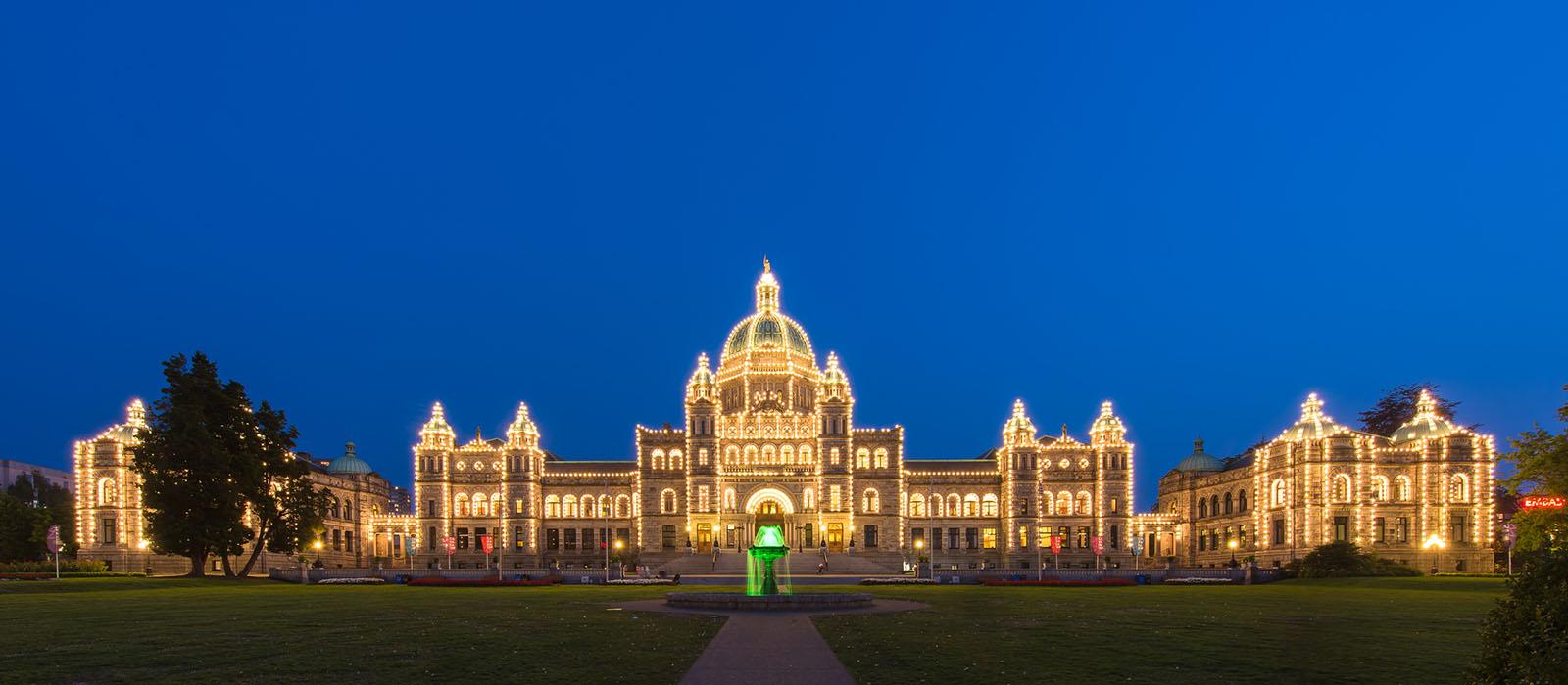 Parliament Victoria BC December