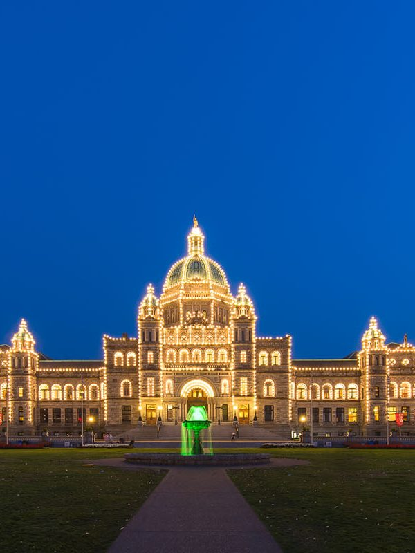 Victoria Parliament Holiday Lights
