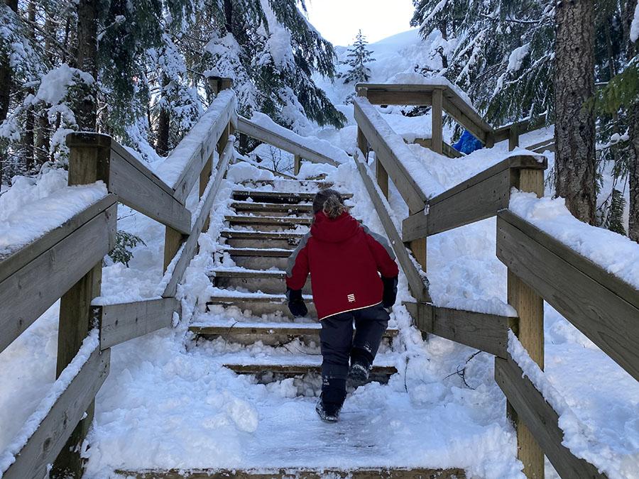 Whistler Tube Park Stairs