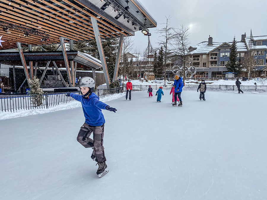 Whistler - Skating in Winter with Kids.