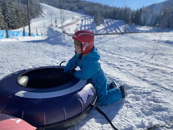 Whistler Snow Tubing 3 year old