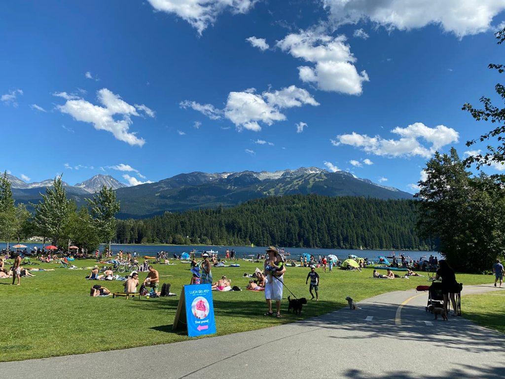 Whistler Swimming Beaches include Lakeside Park on Alta Lake.