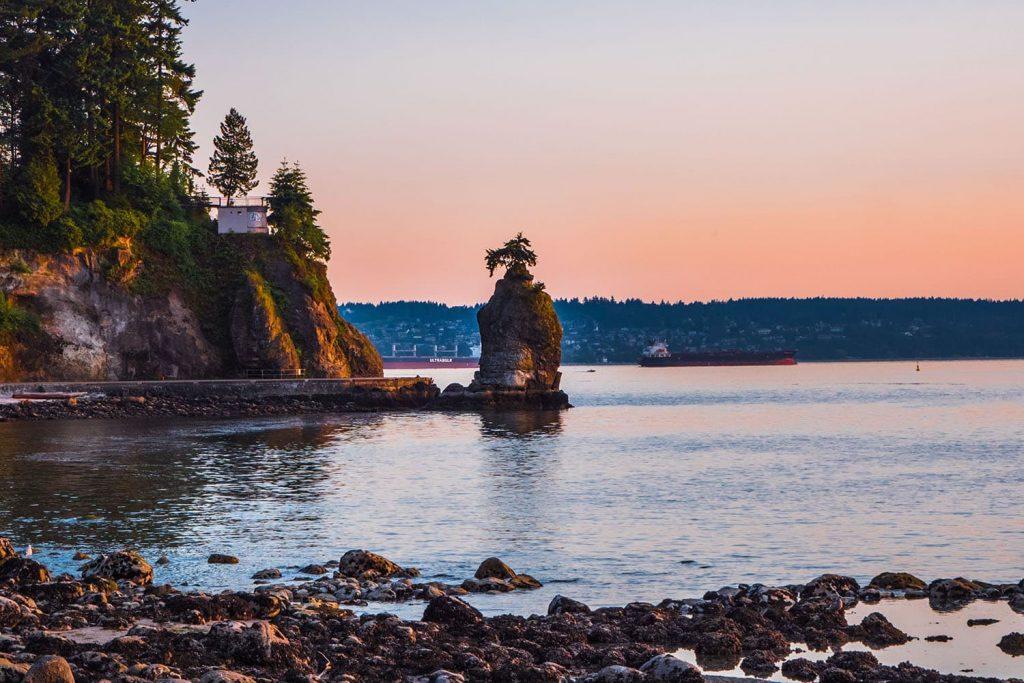 Vancouver Stanley Park Siwash Rock.