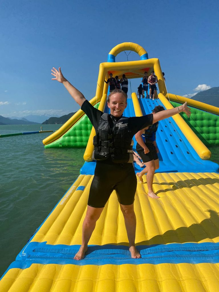 Fun for moms too at harrison water sports.