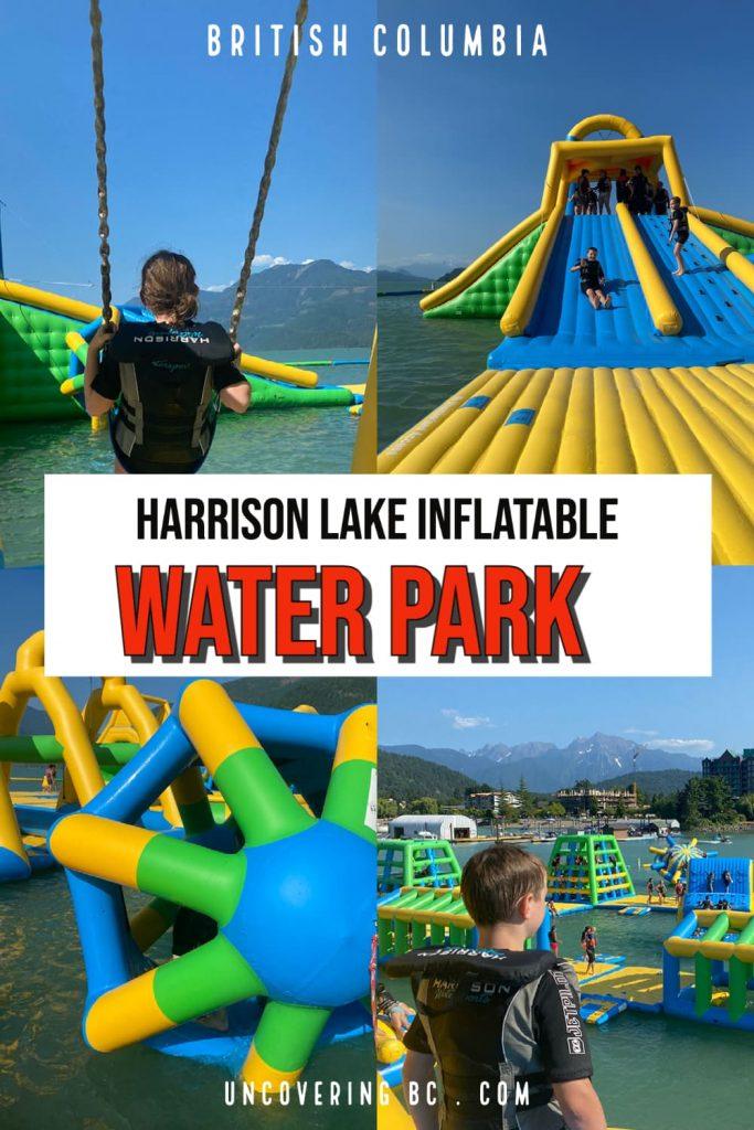Harrison lake water park inflatable park british columbia.