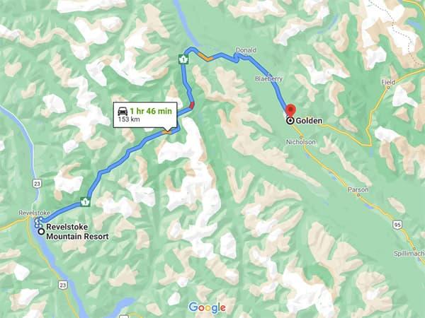 Road Trip Revelstoke to Golden Drive