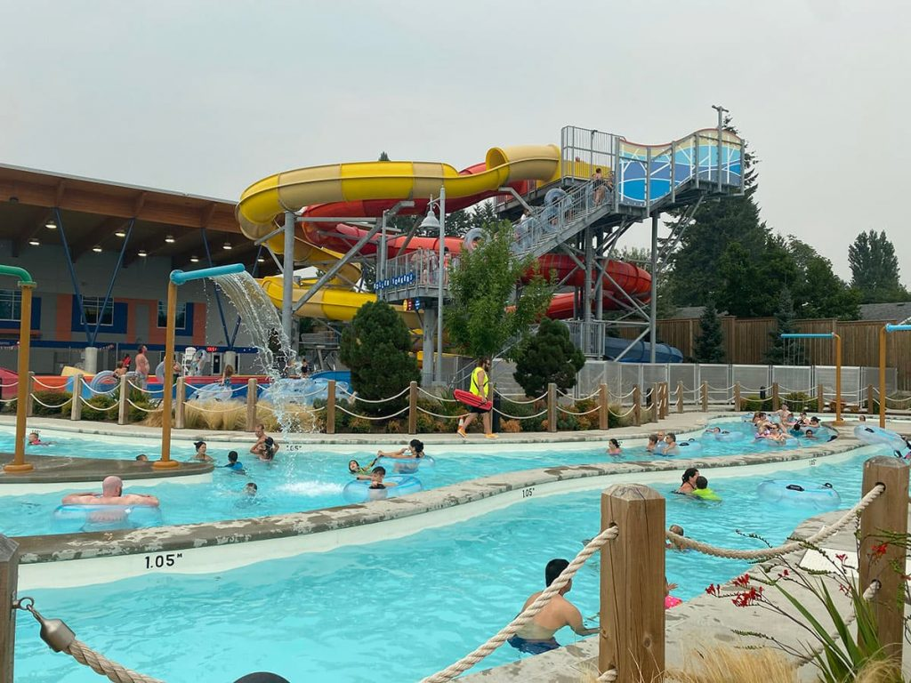 Aldergrove Water Park Tube Slides and Lazy River Langley Outdoor Swimming Pool
