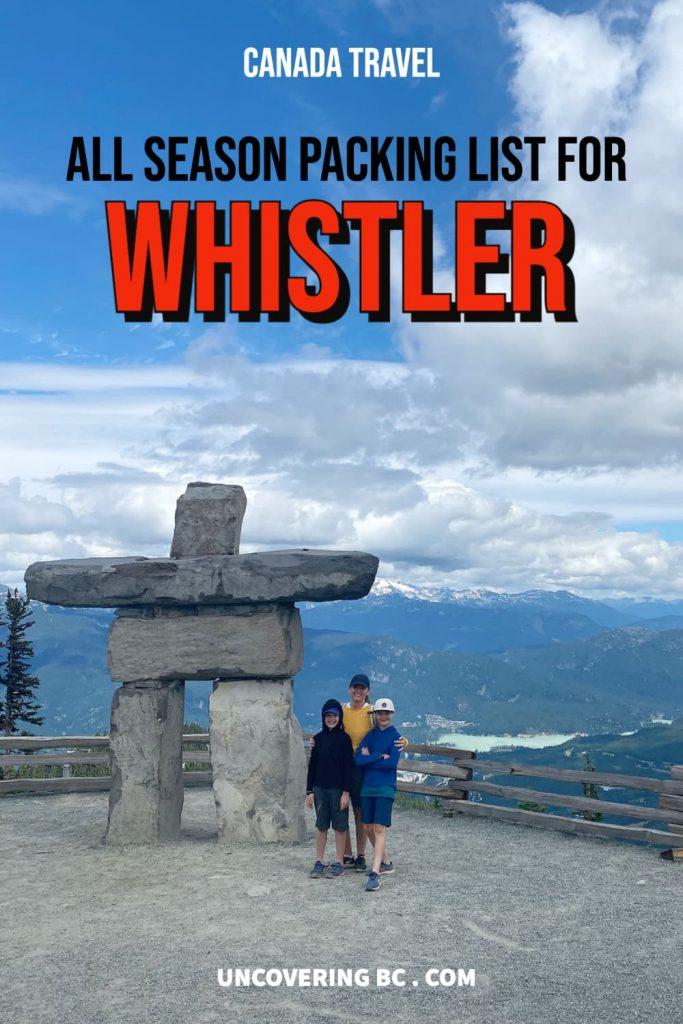 All season packing list for whistler british columbia
