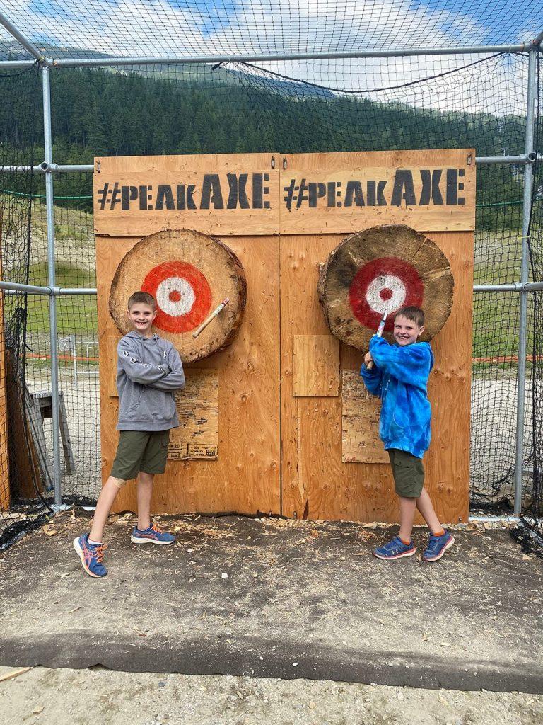Revelstoke Resort - Axe Throwing