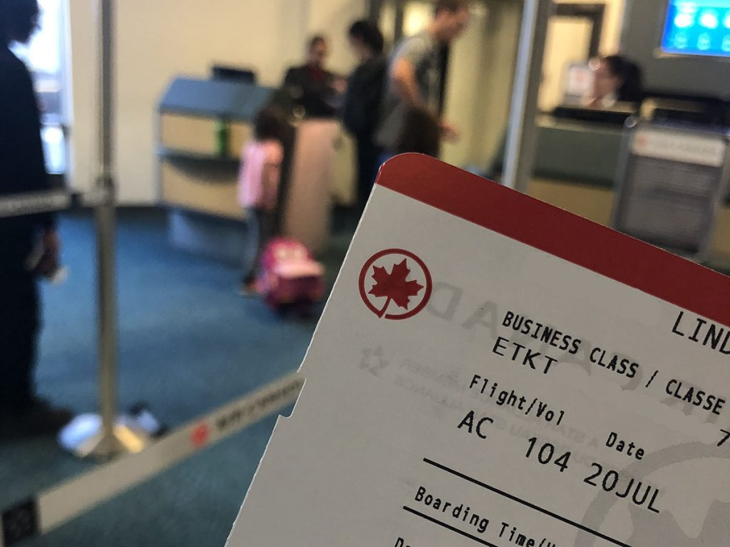 Vancouver Airport Boarding Pass