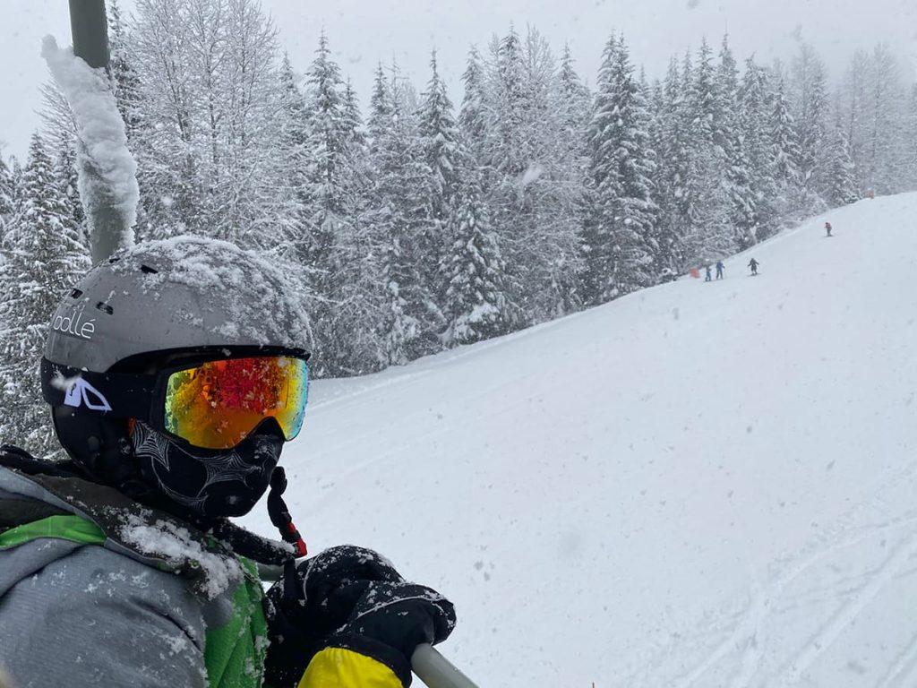 Whistler ski hill - Magic chairlift bunny hill