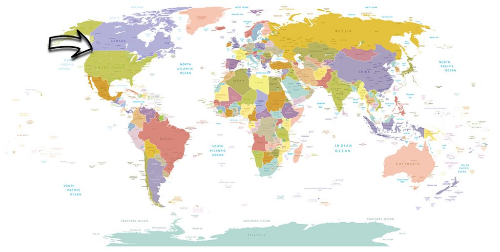 Where is Vancouver located on the map of the world?