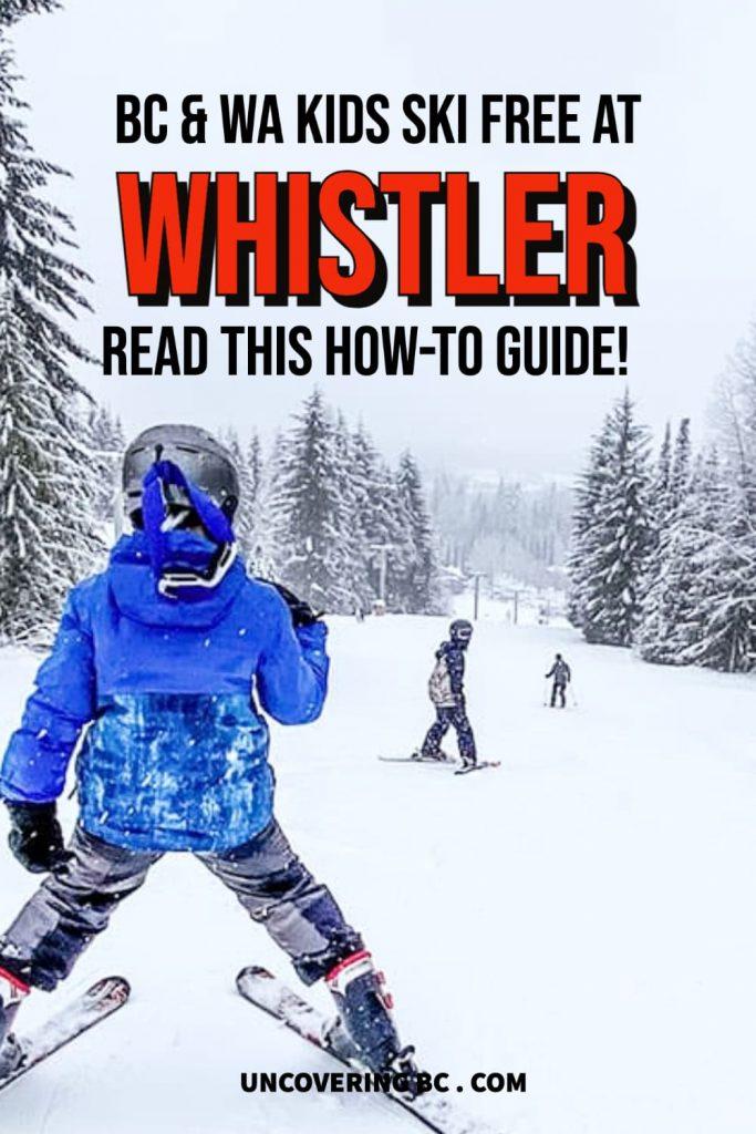 Kids ski free whistler canada.
