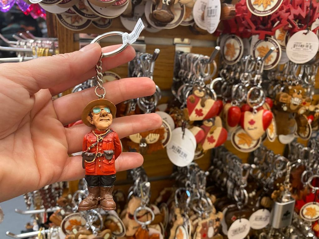 Canada souvenir RCMP keychain.